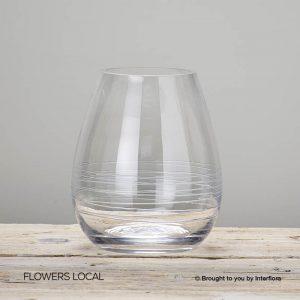Clear Teardrop Vase